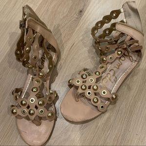 Sam Edelman Shoes - Sam Edelman Tan Gladiator with Gold Studs